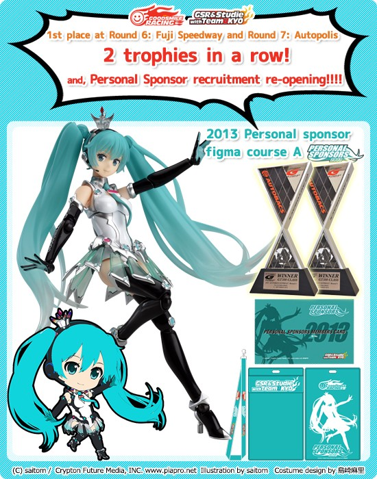 2013 figma Course (7,000JPY Level Personal Sponsorship)